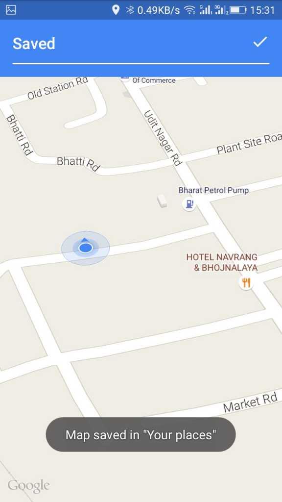 روش ذخیره نقشه های Google Maps