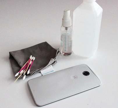 تمیز نگه داشتن موبایل