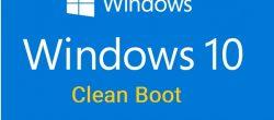Clean Boot در ویندوز 10