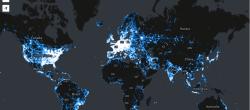 مشاهده تراکم اینترنت جهان از نقشه