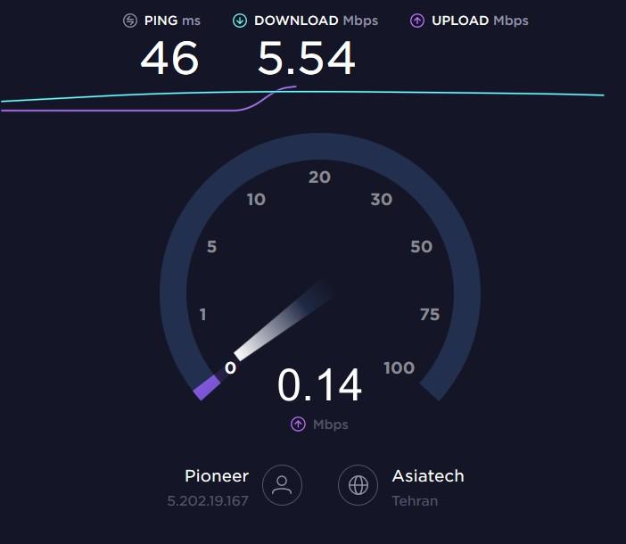 سرعت اینترنت خود را بررسی کنید