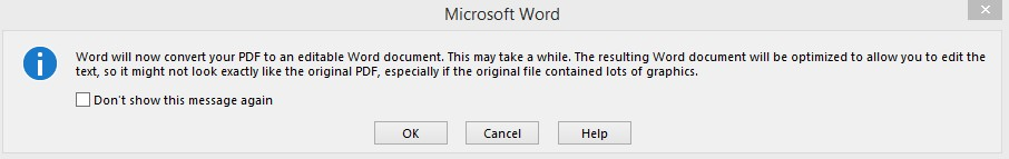 ویرایش PDF با استفاده از Microsoft Word
