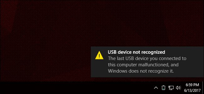 USB در ویندوز 10 کار نمی کند