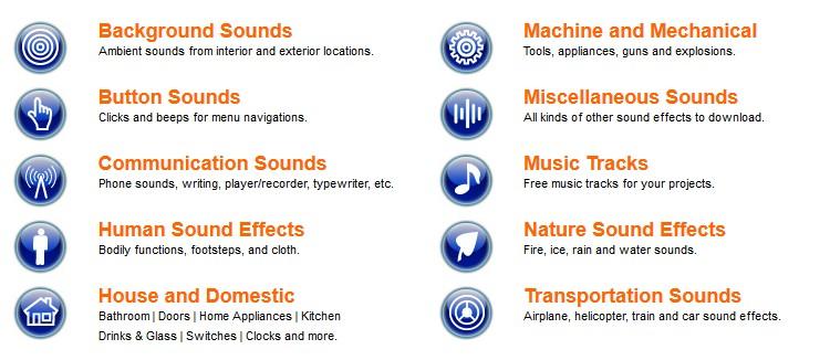 دانلود افکت های صوتی با SoundJay