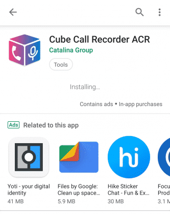 برنامه Cube Call Recorder ACR