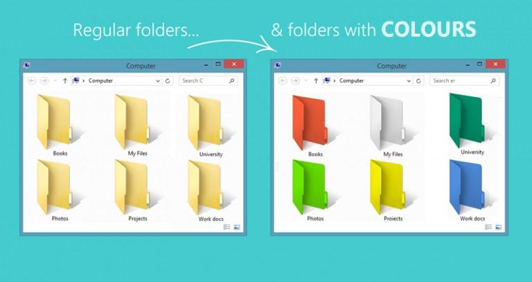 تغییر رنگ پوشه در ویندوز 10 و 8 و 7
