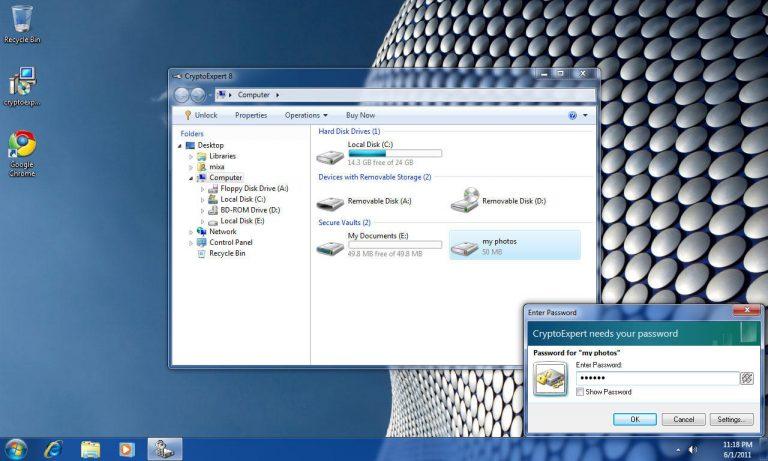 نرم افزار رمزگذاری فایل و پوشه برای ویندوز