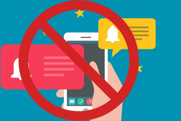 پیام ها و اعلان های گوشی خود را چک نکنید