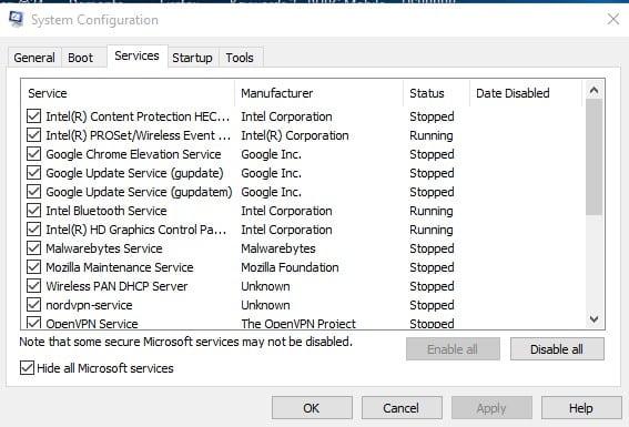 Boot Windows را تمیز کنید برای رفع مشکل run as administrator
