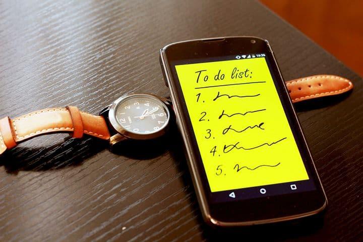 ایجاد لیست وظایف روزانه