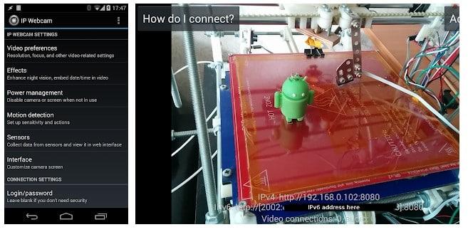 برنامه IP Webcam اندروید