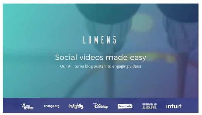 ویرایشگر فیلم Lumen5