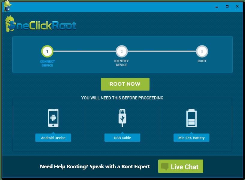 روت کردن گوشی با یک کلیک One Click Root