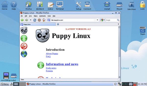 دانلود نسخه های سبک لینوکس - Puppy Linux