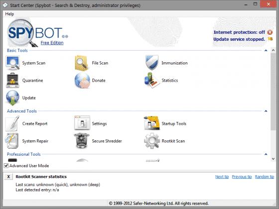 آنتی ویروس پرتابل - Spybot – Search & Destroy Portable