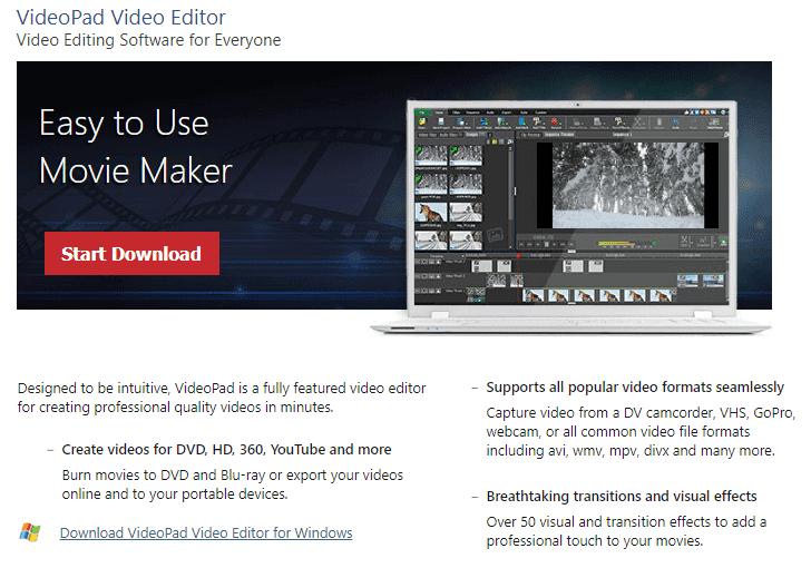 نرم افزار ویرایش ویدیو YouTube با VideoPad Video Editor