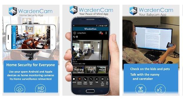 تبدیل اندروید به دوربین مداربسته با برنامه WardenCam