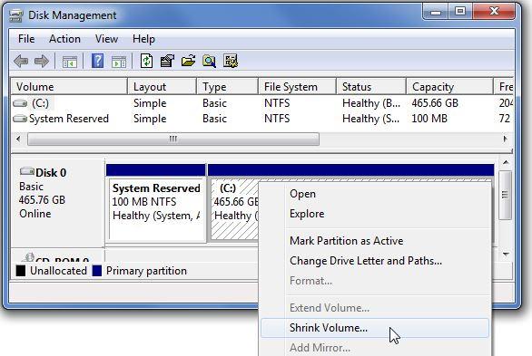 پارتیشن بندی هارد در ویندوز با ابزار Disk Management