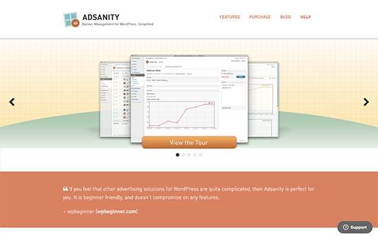 مدیریت تبلیغات در وردپرس با افزونه AdSanity