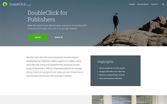 افزونه DoubleClick by Google مدیریت تبلیغات در وردپرس