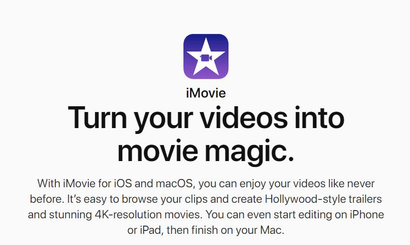 نرم افزار ویرایشگر فیلم یوتیوب با iMovie