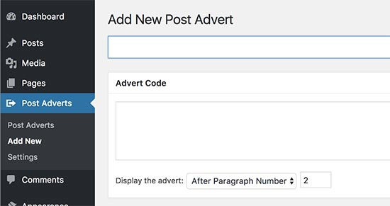 افزونه Insert Post Ads مدیریت تبلیغات در وردپرس