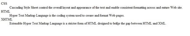 لیست های دارای توضیح در HTML