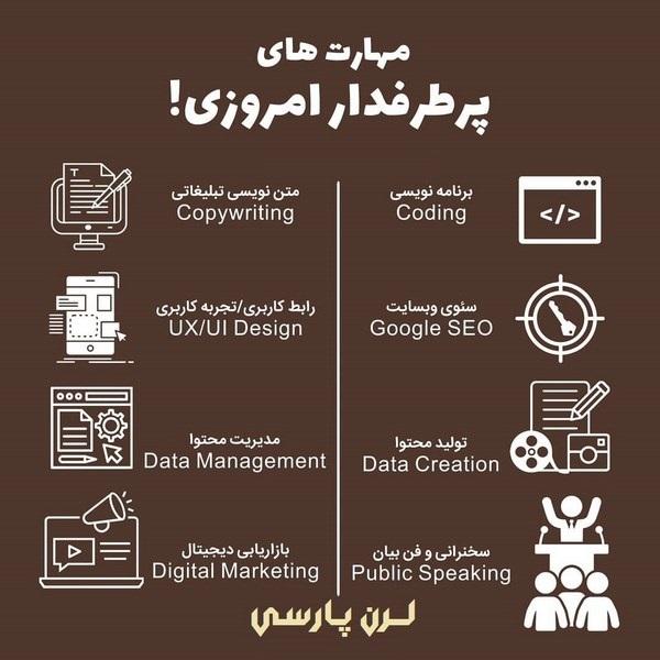 مهارت های پرطرفدار فنی و پردرآمد امروزی در ایران