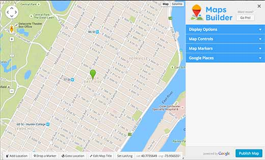 افزونه Google Maps Builder