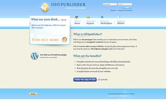 افزونه OIO Publisher مدیریت تبلیغات در وردپرس