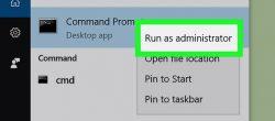 رفع مشکل run as administrator در ویندوز 10