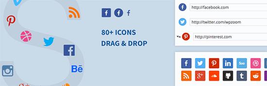 افزونه Social Icons Widget by WPZoom