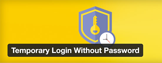 افزونه Temporary Login Without Password