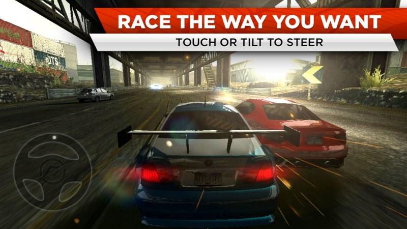 بهترین بازی ماشین اندروید- Need for Speed Most Wanted