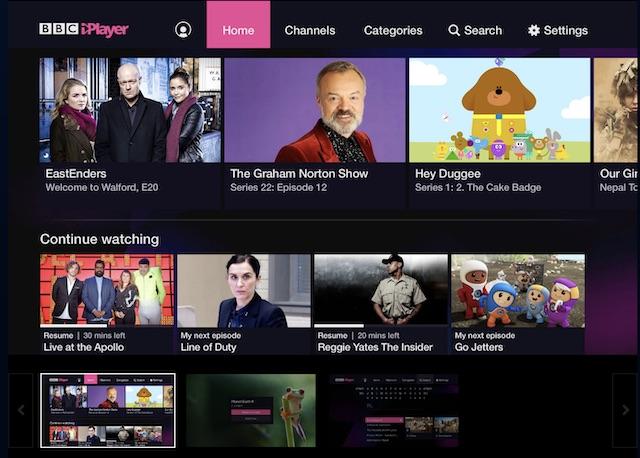 نرم افزار iPlayer BBC پلی استیشن 4
