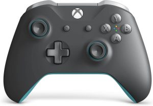 Xbox Wireless Controller – Grey And Blue by Microsoft