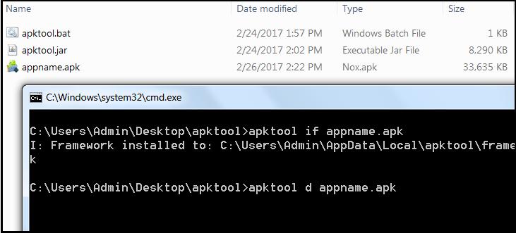 ویرایش برنامه اندرویدی با استفاده از apktool