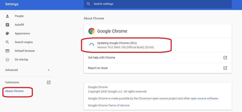 بهروزرسانی Google Chrome