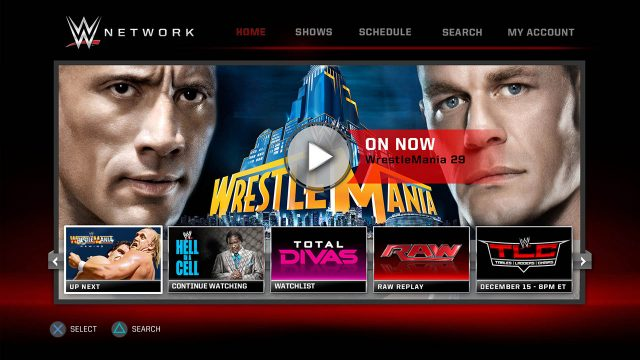 نرم افزار WWE Network پلی استیشن 4