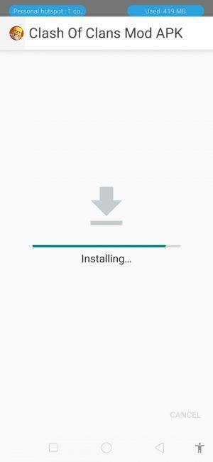 مراحل نصب دانلود فایل کلش اف کلنز هک شده