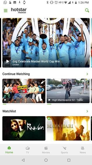 اپلیکیشن تماشای آنلاین فیلم و سریال Hotstar