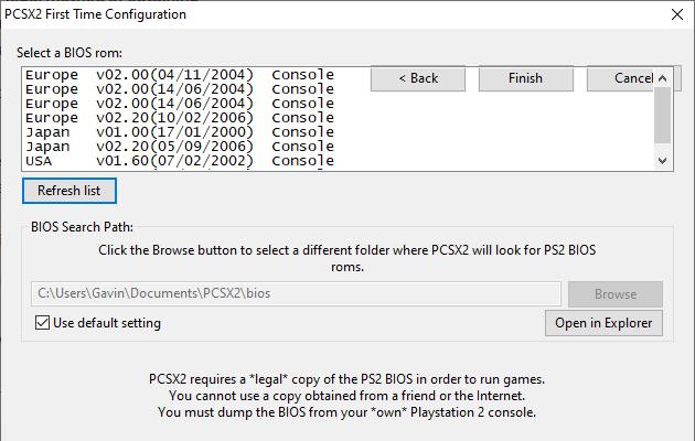 نحوه پیکربندی بایوس PCSX2