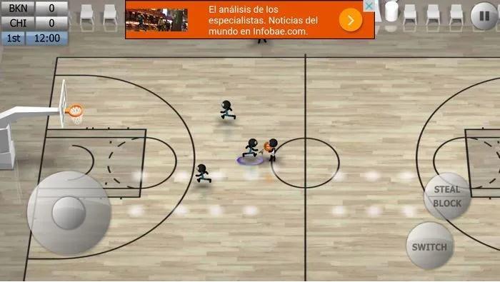 بازی بسکتبال عروسکی اندروید - Stickman Basketball