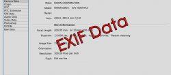 حذف اطلاعات EXIF  از عکس ها