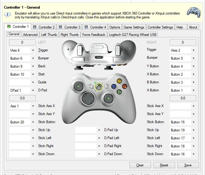 شبیه ساز کنترلر Xbox 360