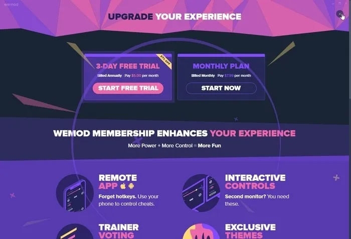 WeMod : نرم افزار هک و تقلب در بازی ها