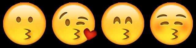 معنی ایموجی چهره های بوسیدن