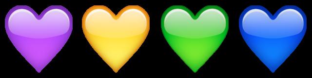 معنی ایموجی قلبهای رنگی