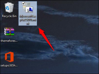 Easy Fix Microsoft را اجرا کنید