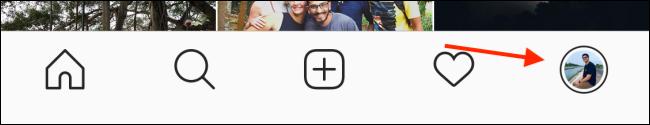 روی نماد نمایه خود ضربه بزنید.